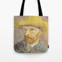 van gogh Tote Bags featuring Van Gogh by Palazzo Art Gallery