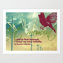 We were infinite Art Print