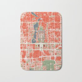 Beijing city map classic Bath Mat