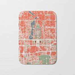 Beijing city map classic Bath Mat