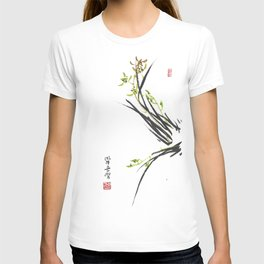 Green Wild Orchid Two T-shirt