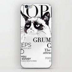 Grumpy the cat iPhone & iPod Skin