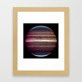 Jupiter taken in infrared ligh Framed Art Print