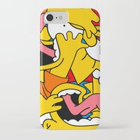 simpsons iPhone & iPod Cases featuring Simpsons by Startled Artist
