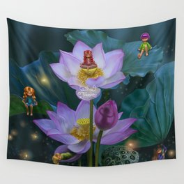 Lotus of India Wall Tapestry