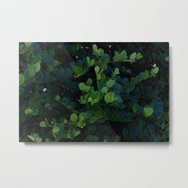 Deep Green Tropical Love Metal Print