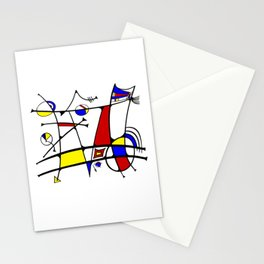 Miro inspired Abstract Stationery Cards
