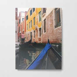 Gondola in the Grand Canal Metal Print
