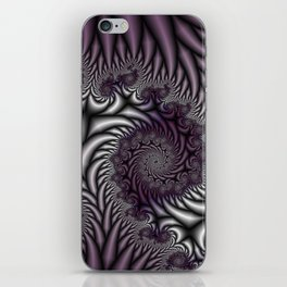 Purple and Gray iPhone Skin