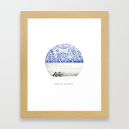 walking in a sea of memories Framed Art Print