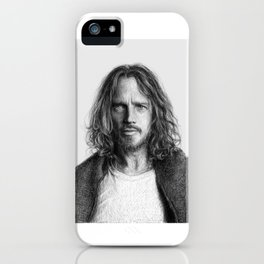 Chris Cornell tribute, black and white iPhone Case