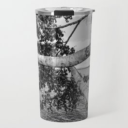 Black & White Birch Tree  Travel Mug