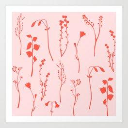 Botanical Blush #illustration #pattern Art Print