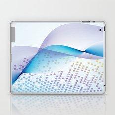 Light Blue Digital Abstract Laptop & iPad Skin