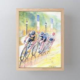 Colorful Bike Race Art Framed Mini Art Print