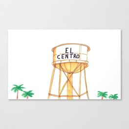The El Centro Water Tower Canvas Print