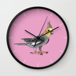 Cockatiel bird Wall Clock