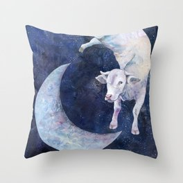 The Cow Jumped Over The Moon - II Throw Pillow