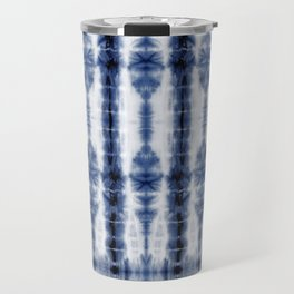 Tiki Shibori Blue Travel Mug