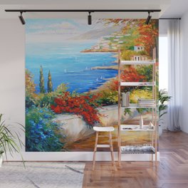 Bright day by the sea Wall Mural