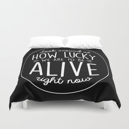 Look Around, Look Around Duvet Cover