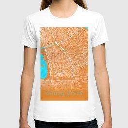 Chula Vista, CA, USA, Gold, Blue, City, Map T-shirt