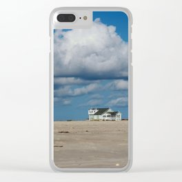 Clouds Over Beach Houses Clear iPhone Case