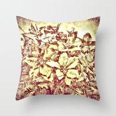 Christmas bouquet- vintage Throw Pillow