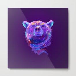 Neon Bear Metal Print