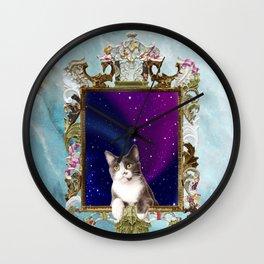 Mirrors Wait Cat Wall Clock