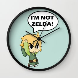 I'm not Zelda! (link from legend of zelda) Wall Clock