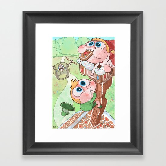 Hansel and Gretel are Assholes Framed Art Print