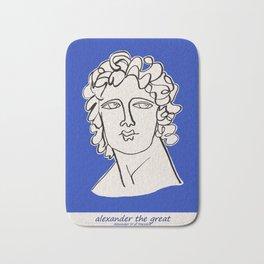 Alexander the Great statue Bath Mat