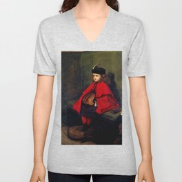 "John Everett Millais ""My First Sermon"" Unisex V-Neck"