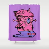 video game Shower Curtains featuring Double Slug - Video Game Project by Studio Momo╰༼ ಠ益ಠ ༽