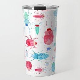 Watercolor Beetles Travel Mug