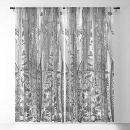 Bohemian Gray Sheer Curtain