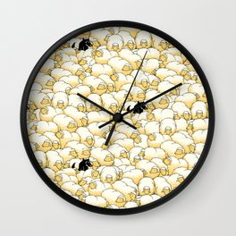 Find The Spy Pattern Wall Clock