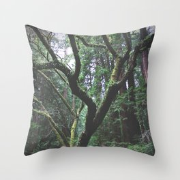Mossy Womb Throw Pillow