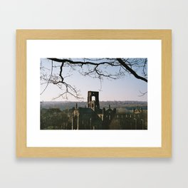 Kirkstall Abbey from the hill... Framed Art Print