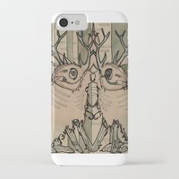 jackalope iPhone & iPod Cases featuring JACKALOPE by Lena Hirsch