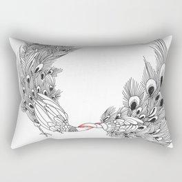 Peacock III Rectangular Pillow