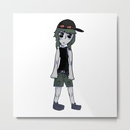 GUMI from vocaloid Metal Print
