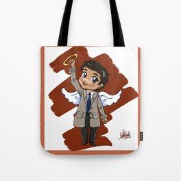 Chibi Castiel (Supernatural) Tote Bag