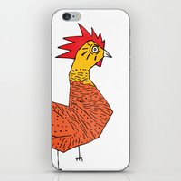 rooster iPhone & iPod Skins featuring rooster by Matt Edward