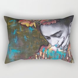 frida loves turquoise Rectangular Pillow