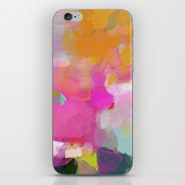 pink sun clouds abstract iPhone Skin