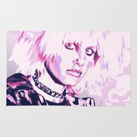 blade runner Area & Throw Rugs featuring PRIS // BLADE RUNNER by mergedvisible