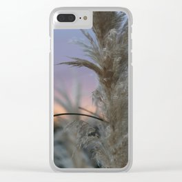 Pampas Grass & Sunset Clear iPhone Case