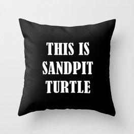 This is Sandpit Turtle (Sempiternal)- Emo, Alt, Scene, Emo Kid, Screamo, Metal, Deathcore, Metalcore Throw Pillow